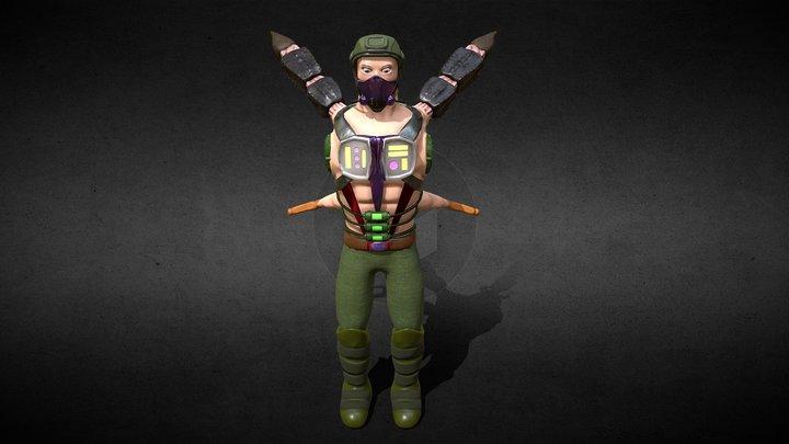 Scorpion-Man 3D Model