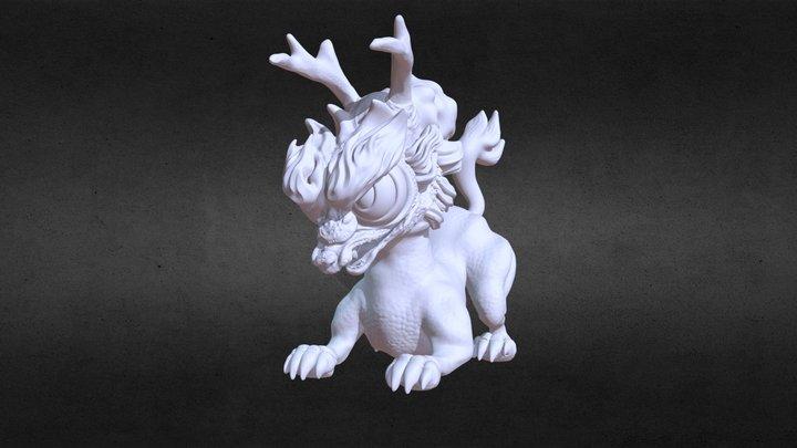 Angry Kirin 3D Model