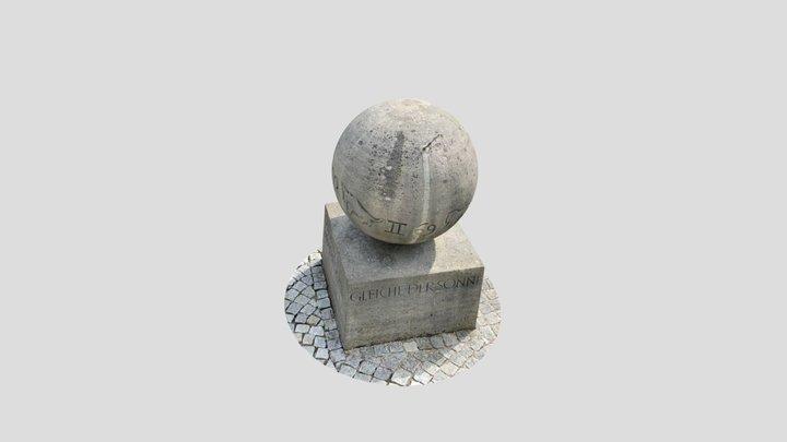Sonnenuhr Weltkugel 3D Model