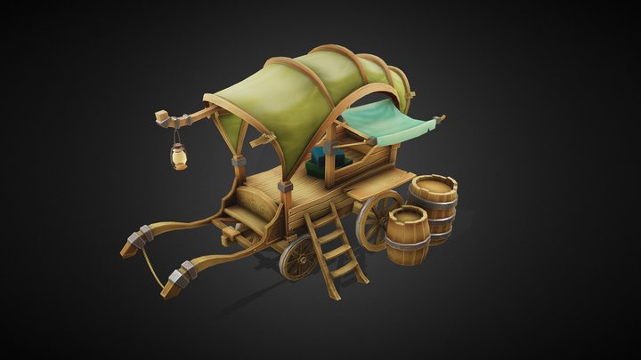 Trader's Cart 3D Model