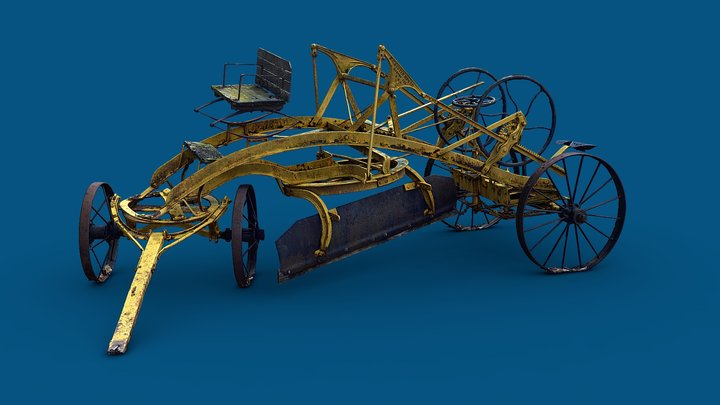 Reversible Road Machine (1890s Plow) 3D Model