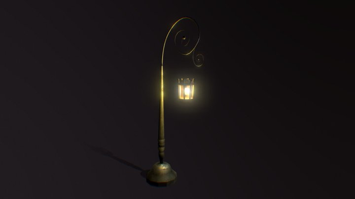 Farola Toon - Streetlight - Low Poly 3D Model