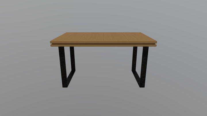 WoodenTable 3D Model