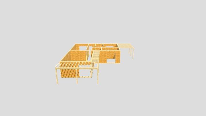 MD - RD3 - model 3D z pergolą - 2021.08.20 3D Model