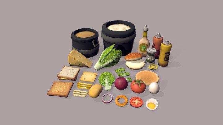 Food Assets 3D Model