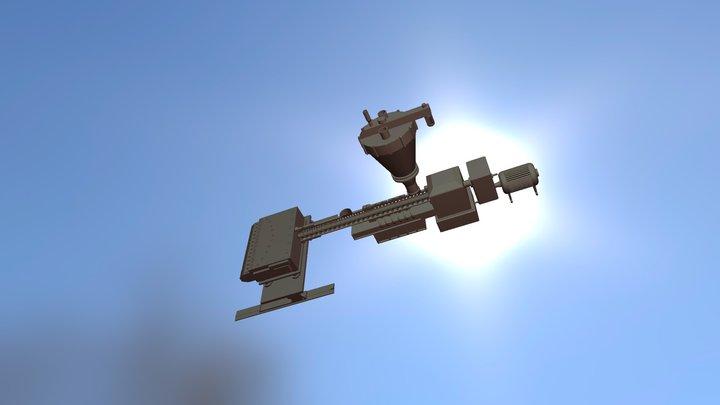 Одношнековый экструдер 3D Model