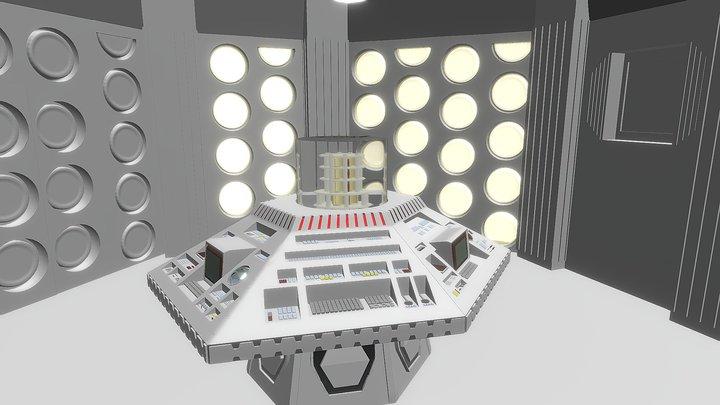 Late 80's TARDIS Console Room 3D Model