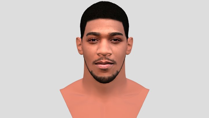 Anthony Joshua bust for full color 3D printing 3D Model