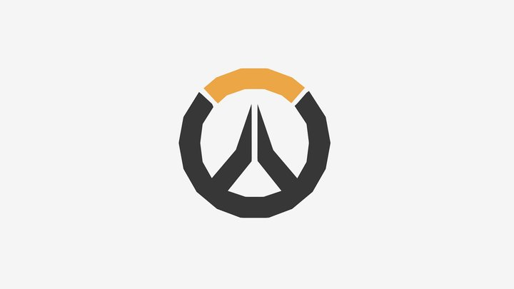 Low Poly Overwatch Logo 3D Model