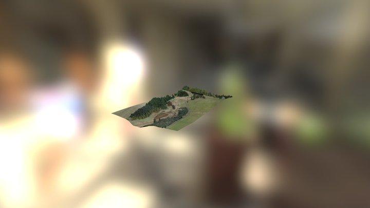 Kermer Muhle in valley 3D Model