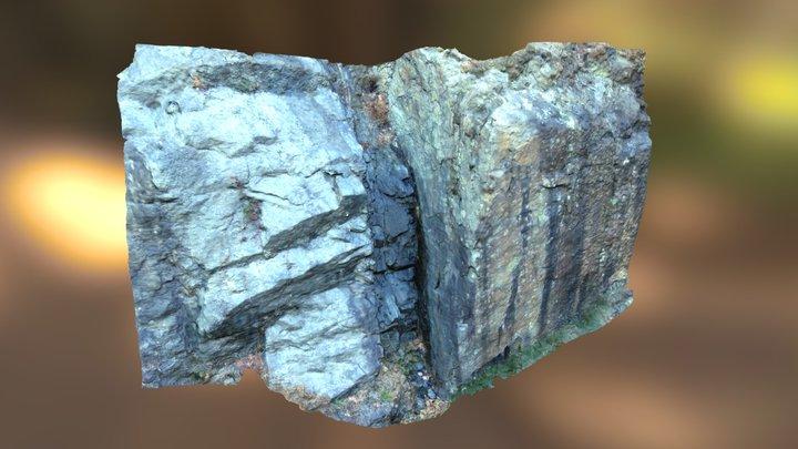 Basaltic Feeder Dike in Gneiss Basement 3D Model