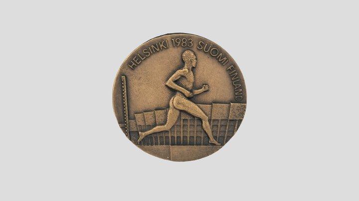 World Athletics Champs participant medal 1983 3D Model