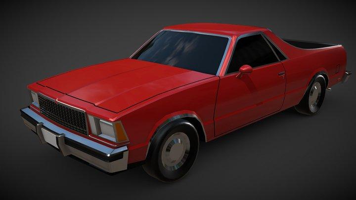 Lowpoly El Camino - No Textures 3D Model