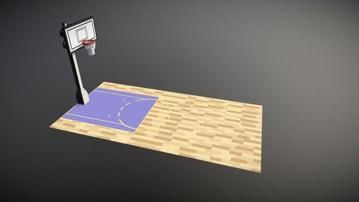 Voxel Basketball hoop - Magicavoxel Asset 3D Model