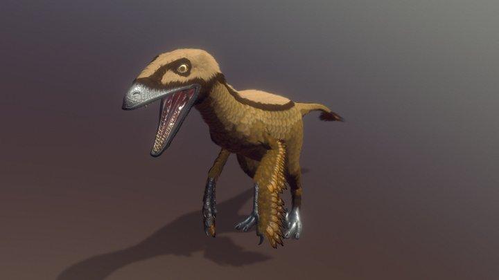 Deinonychus 3D Model