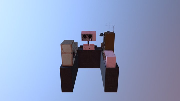 Radio Room 3D Model