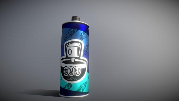 Spray Paint Can Lata de Aerosol 3D Model