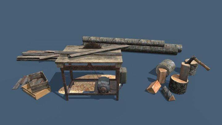 Lumberyard Decorations | Game Assets 3D Model
