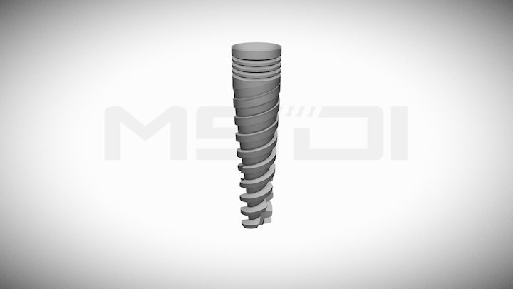 MSDI dental implants- SPI 13-30 3D Model