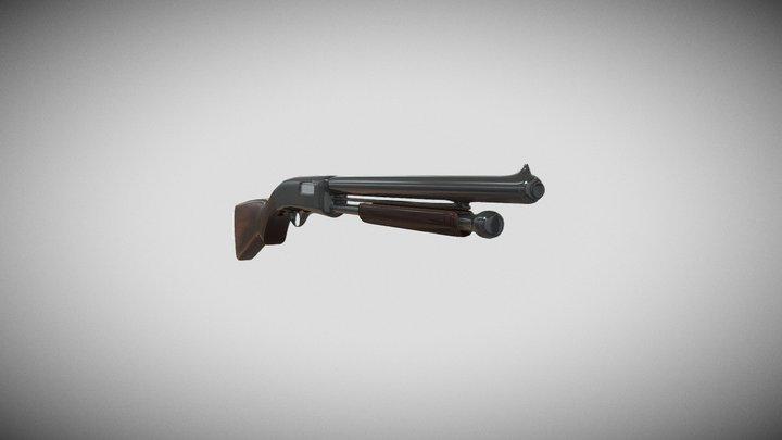 Pump Shotgun 3D 3D Model