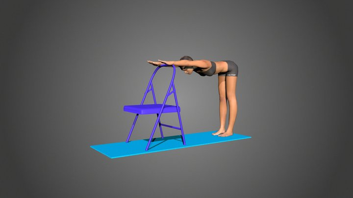 Yoga Pose Uttanasana 3D Model