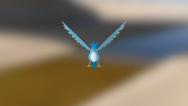 Wii - Pokemon Battle Revolution - 144 - Articuno 3D Model