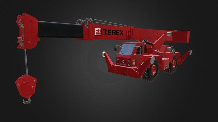 Red Crane 3D Model