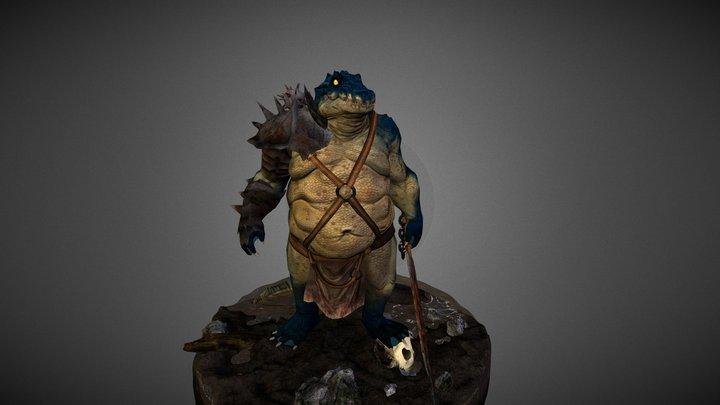 Croc Brute 3D Model