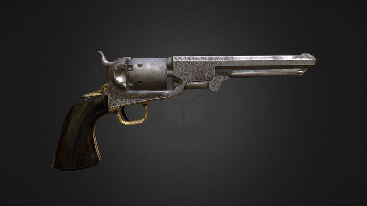 1851 Colt Revolving Navy Pistol 3D Model
