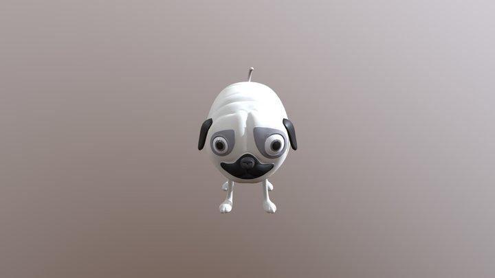 Bubblegum Dog 3D Model