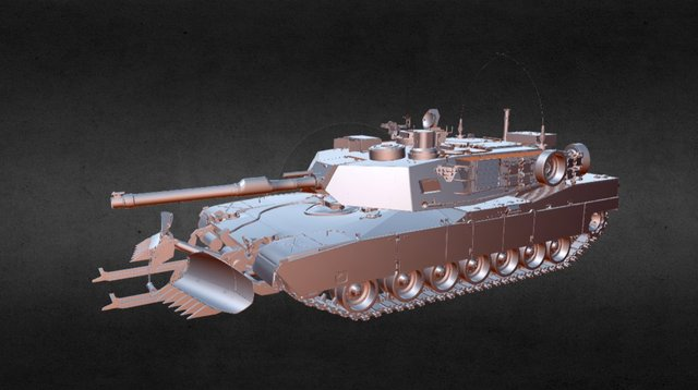 Abrams M1A1 3D Model