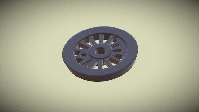 Engine Wheel 3D Scan 3D Model