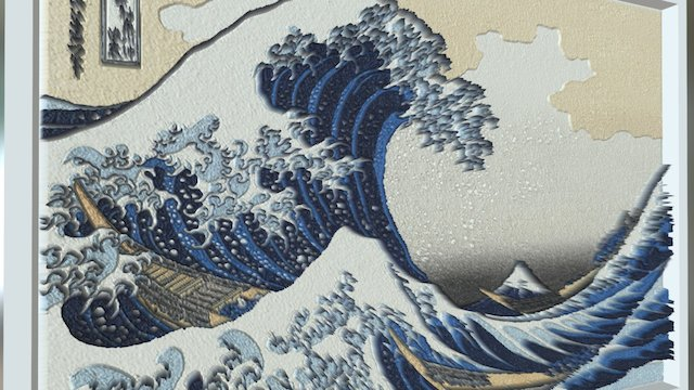 The Great Wave Off Kanagawa 3D Model