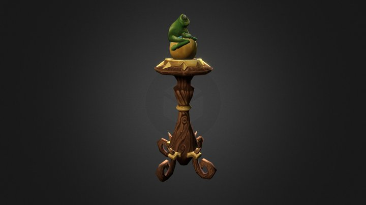 Hearthstone  Newel Post 3D Model