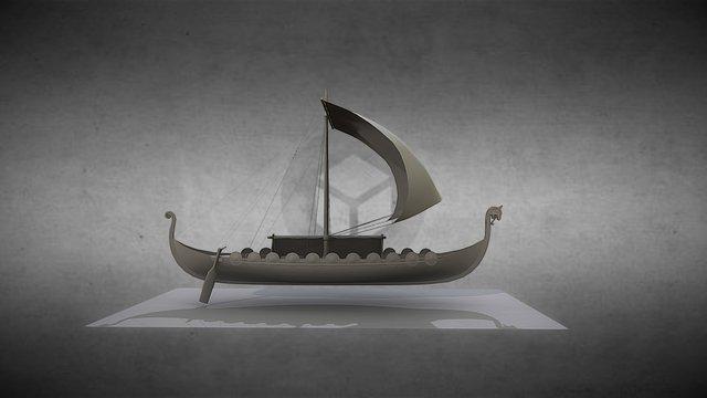 Drakkar 3D Model