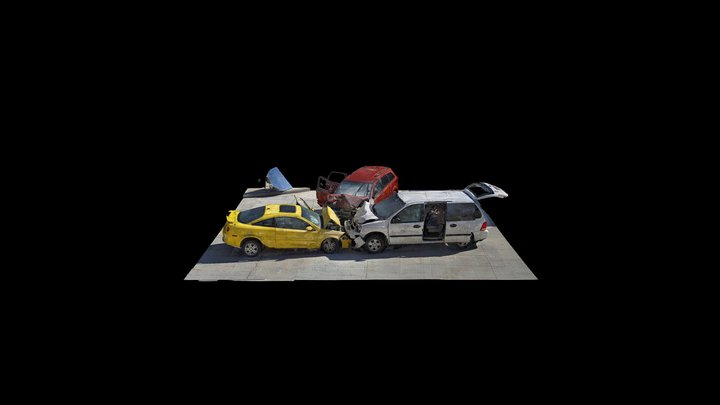 Three-Car Crash - Tri-City, Ohio 3D Model