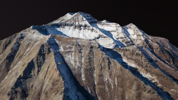Mount Timpanogos 3D Model
