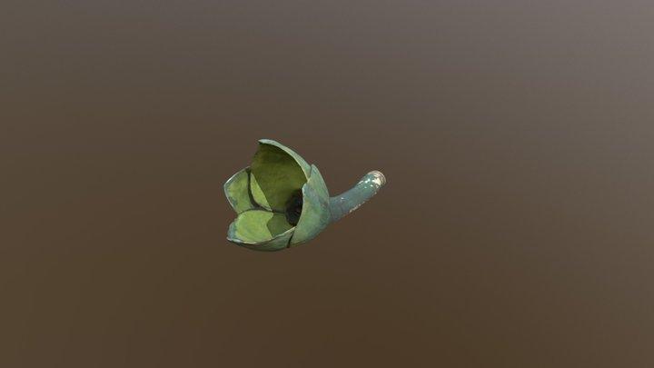 Tige fleur poilue 3D Model