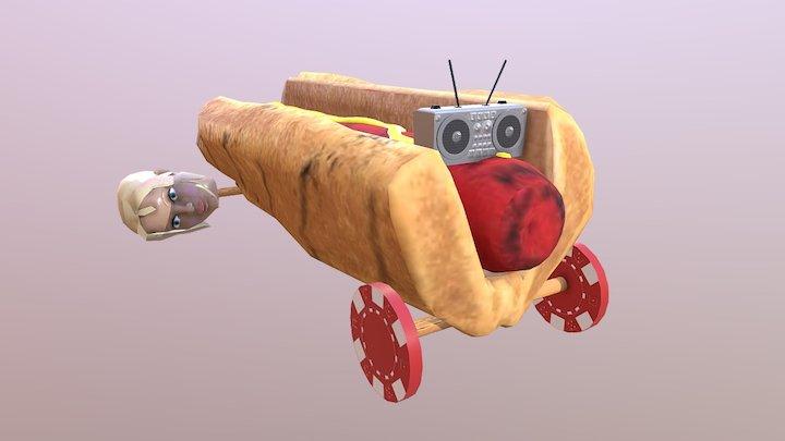 Scrap Car 3 3D Model