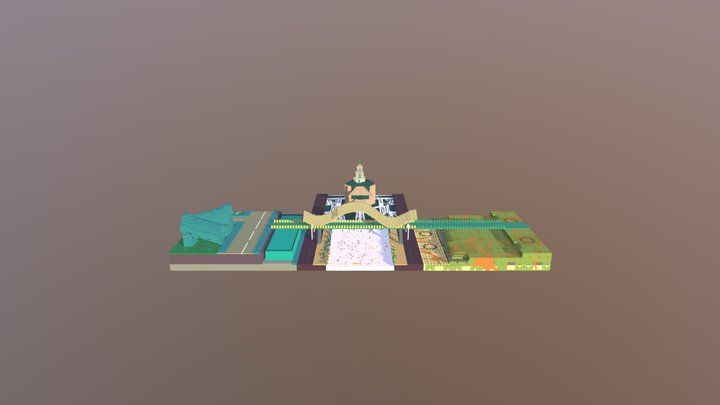 Peace Bridge-Mix 3D Model