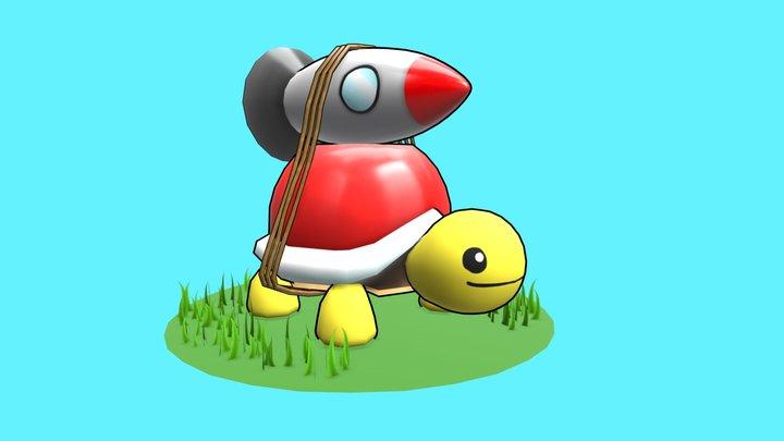 Rocket Turtle 3D Model