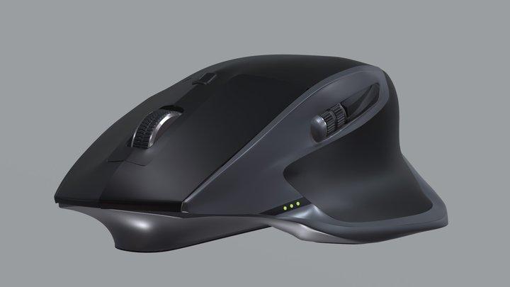 Logitech MX master 2S mouse 3D Model