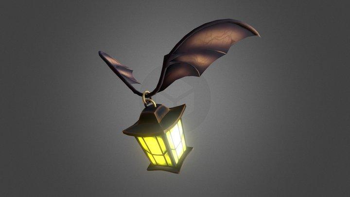 Flying flashlight 3D Model