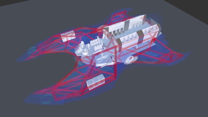 """""""Echelon"""" V5 Interior cutaway 3D Model"""