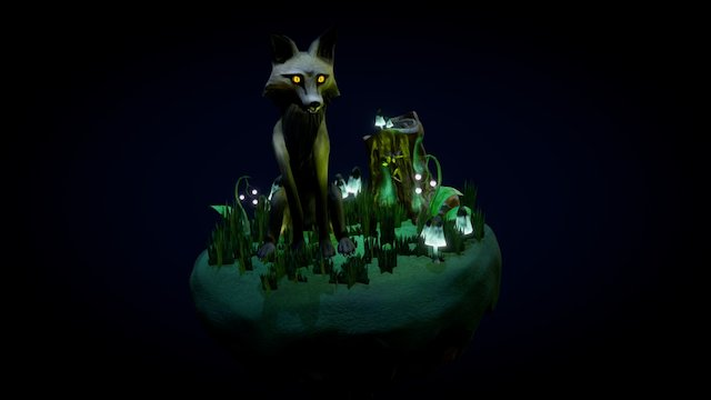 Night Fox 3D Model