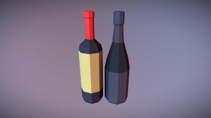 Wine Bottles - Household Props Challenge 3D Model