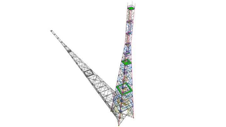 Башня молниеотвод 118 м. 3D Model