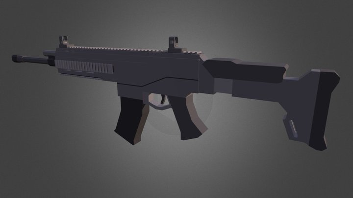 ACR (Call of Duty) - Low Details 3D Model