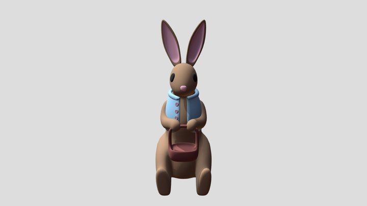 Easter bunny plush 3D Model