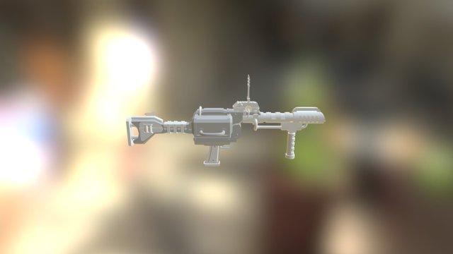 ZX1 Grenade Launcher 3D Model